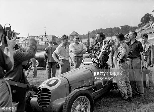 Maserati of JP Wakefield second in the JCC International Trophy Brooklands 1937 Artist Bill BrunellMaserati 6c 1500 1494S cc Event Entry No 20 Driver...