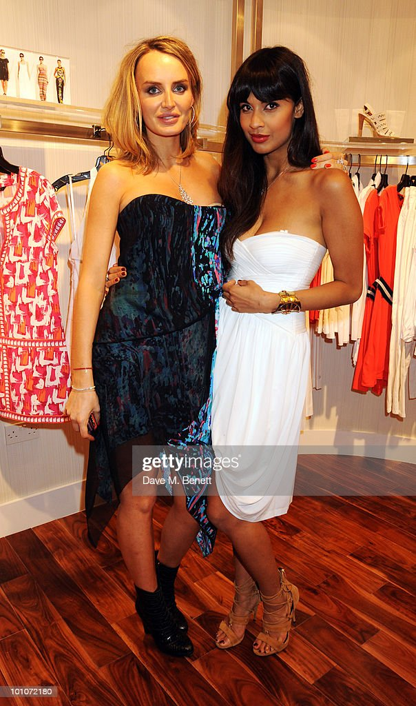 Masha Markova and Jameela Jamil attend the store opening of BCBGMAXAZRIA on May 27, 2010 in London, England.