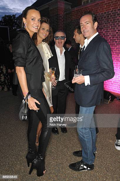 Masha Markova Olivia Cole artist Damien Hirst Dan Macmillian and Robert Hanson attend the annual Summer Party at the Serpentine Gallery on July 9...