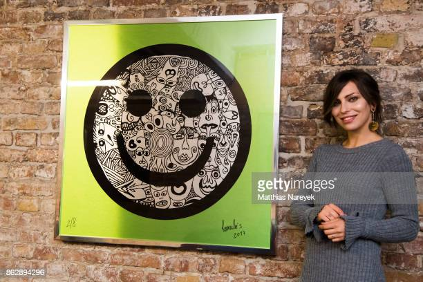 Masha Sedgwick during Romulo's 'Farbenspiel' exhibition opening at Hotel Provocateur on October 18 2017 in Berlin Germany