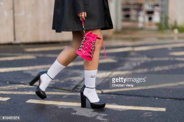 Berlin fashion week 2018 street style stock photos and for Mercedes benz socks
