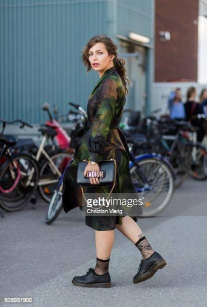 Masha Sedgwick wearing Dior bag Stine Goya dress outside Stine Goya on August 09 2017 in Copenhagen Denmark