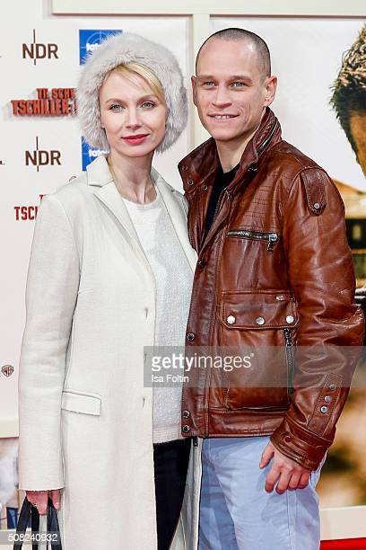 Masha Tokareva and Vinzenz Kiefer attend the 'Off Duty' German premiere on February 03 2016 in Berlin Germany