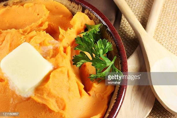 Mashed sweet potatoes or yams
