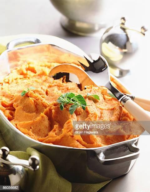 Mashed sweet potatoes with nutmeg