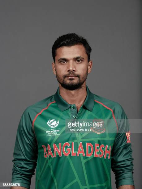 Mashrafe MortazaÊof Bangladesh poses for a picture during the Bangladesh Portrait Session for the ICC Champions Trophy at Grand Hyatt on May 26 2017...