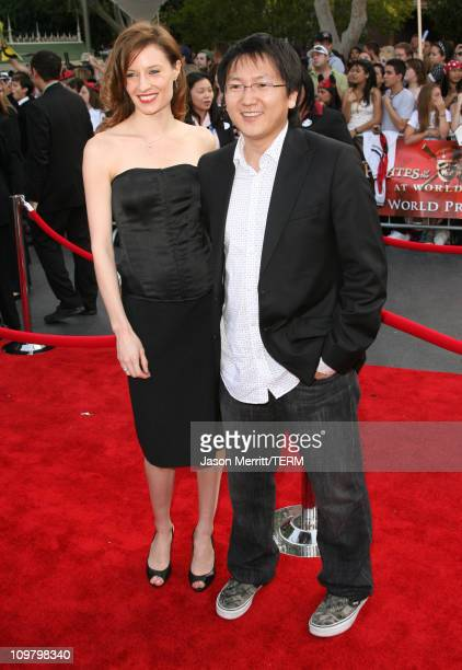 Masi Oka and guest during 'Pirates of the Caribbean At World's End' World Premiere Arrivals at Disneyland in Anaheim California United States