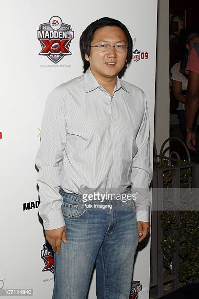 Masi Oka arrives to the 20th Anniversary of Madden NFL Franchise Celebration Hosted by EA Sports at STK/CoCo De Ville in West Hollywood CA on August...