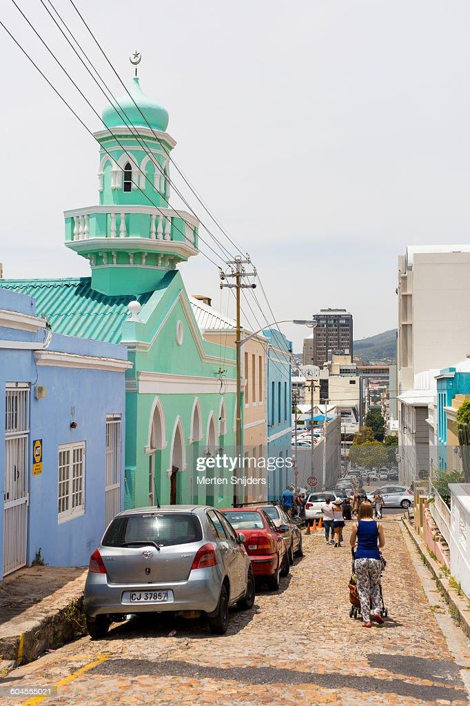 Masjid Boorhaanol Islam in Bo Kaap : Stock-Foto