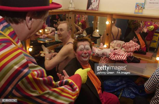 Masjolie from Holland and Clowns from across the United Kingdom gather for the 58th Annual Grimaldi Service at the 'Clown's Church' in Dalston east...