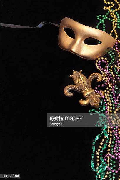 Mask and Beads on Black