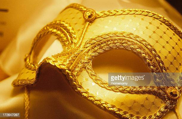 Mask, Gold Mardi Gras