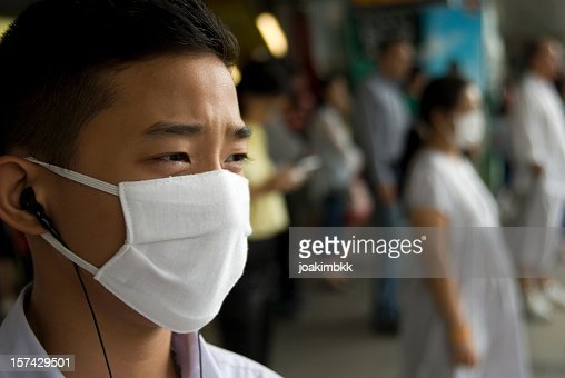 A mask to cover the faces of those affected with swine flu