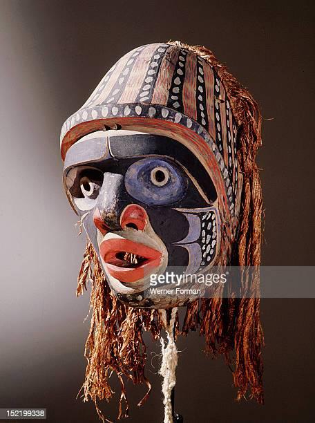 Mask with humanoid face Northwest Coast of America Bella Coola