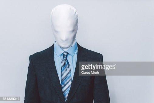 Masked businessman.