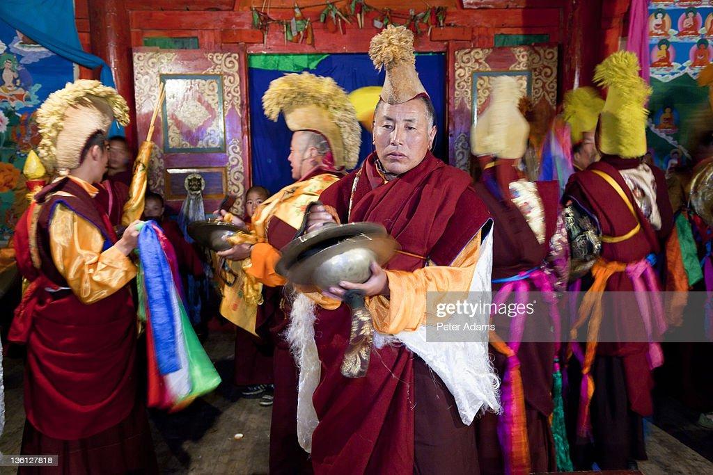 Masked Dance Festival, Tagong, Tibetan area; China : Stock Photo
