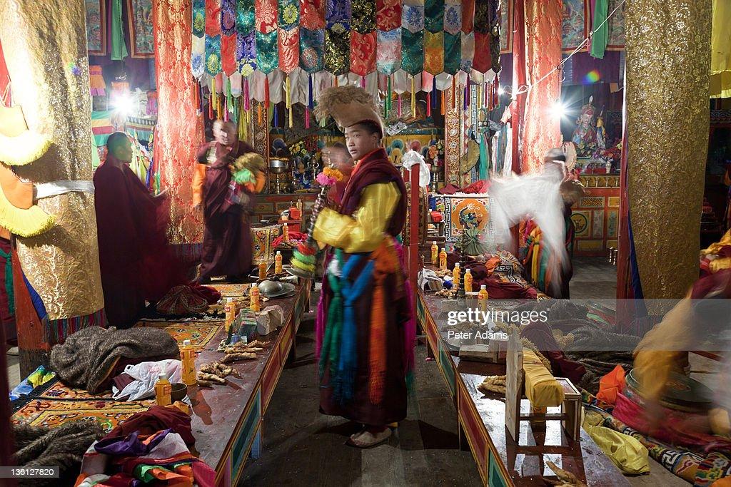 Masked Dance Festival, Tagong, Tibetan area, China : Stock Photo
