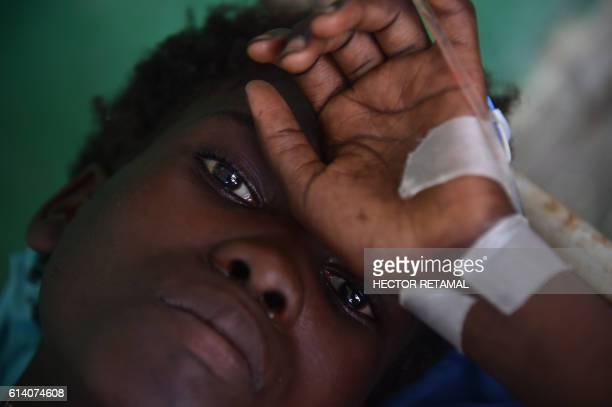 Maslen with cholera symptomsreceives medical atention at the health center of Les Anglais in Les Cayes October 11 2016 Haiti faces a humanitarian...