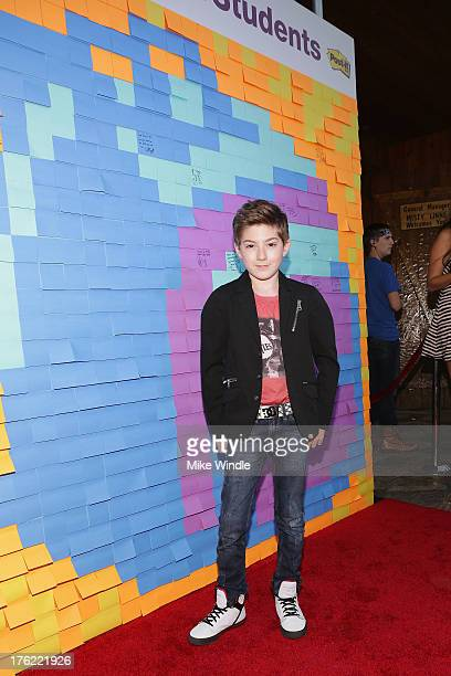 Mason Cook arrives at Staples Boys Girls Clubs of America and teen actor Jake T Austin mark the end of summer with a starstudded school supply drive...