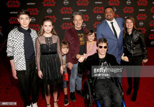 Mason Cook Kyla Kenedy guest John Ross Bowie guest Micah Fowler Cedric Yarbrough and guest at Star Wars The Last Jedi Premiere at The Shrine...