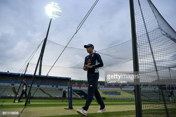 Mason Crane of England during a nets session at Edgbaston on August 14 2017 in Birmingham England