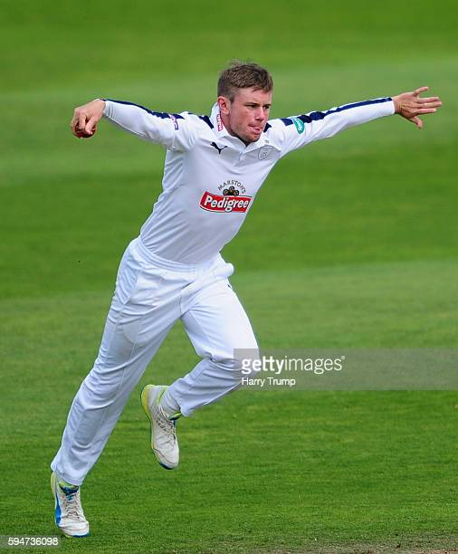 Mason Crane of Hampshire during Day Two of the Specsavers County Championship Division One match between Somerset and Hampshire at the Cooper...