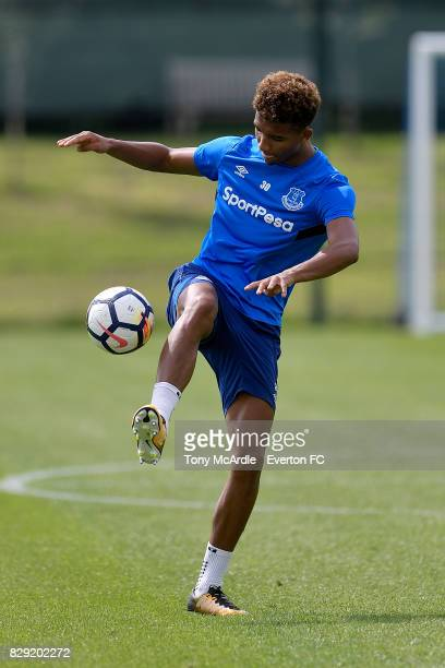 Mason Holgate during the Everton FC training session at USM Finch Farm on August 10 2017 in Halewood England