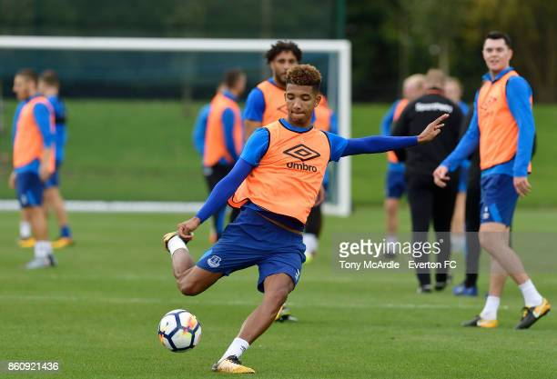 Mason Holgate during the Everton training session at USM Finch Farm on October 13 2017 in Halewood England