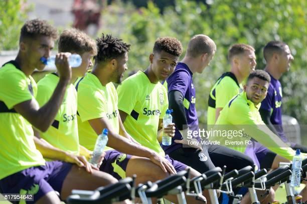 Mason Holgate of Everton during preseason training on July 18 2017 in De Lutte Netherlands