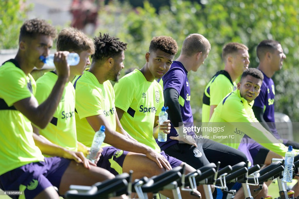 Mason Holgate of Everton during pre-season training on July 18, 2017 in De Lutte, Netherlands.