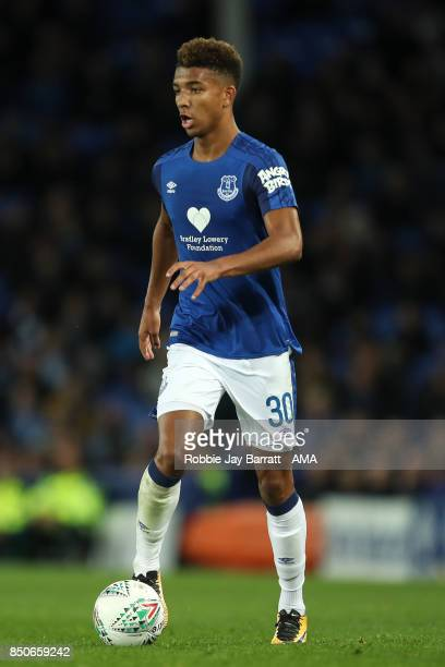 Mason Holgate of Everton during the Carabao Cup Third Round match between Everton and Sunderland at Goodison Park on September 19 2017 in Liverpool...