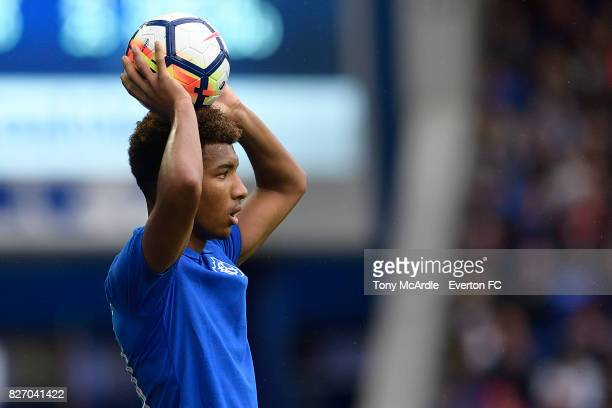 Mason Holgate of Everton during the Pre Season Friendly match between Everton and Sevilla at Goodison Park on August 6 2017 in Liverpool England