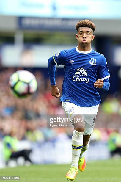 Mason Holgate of Everton during the Premier League match between Everton and Stoke City at Goodison Park on August 27 2016 in Liverpool England