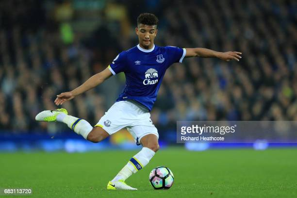 Mason Holgate of Everton in action during the Premier League match between Everton and Watford at Goodison Park on May 12 2017 in Liverpool England