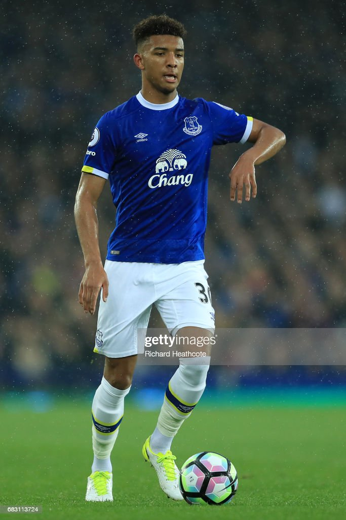 Mason Holgate of Everton in action during the Premier League match between Everton and Watford at Goodison Park on May 12, 2017 in Liverpool, England.
