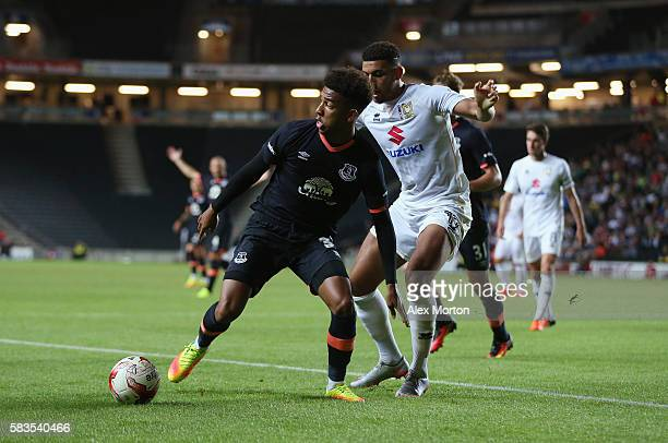 Mason Holgate of Everton in action during the preseason friendly match between MK Dons and Everton at Stadium mk on July 26 2016 in Milton Keynes...