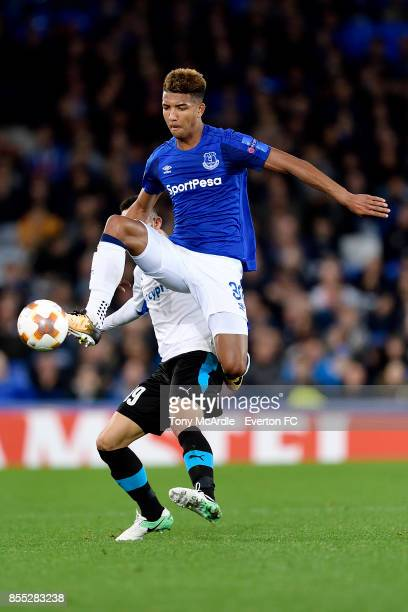 Mason Holgate of Everton on the ball during the UEFA Europa League match between Everton and Apollon Limassol at Goodison Park on September 28 2017...