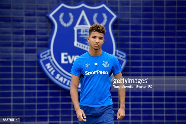 Mason Holgate of Everton poses for a photo at USM Finch Farm on October 20 2017 in Halewood England