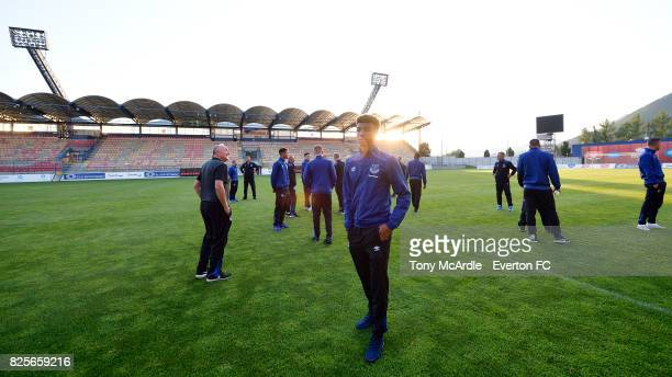 Mason Holgate of Everton visits MFK Ruzomberok's Stadium on August 2 2017 in Ruzomberok Slovakia