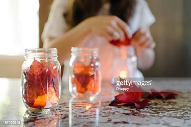 Mason jar candle holder craft