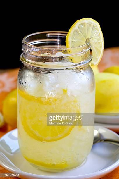 Mason jar with home made lemonade