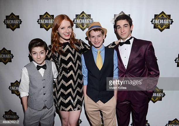 Mason Lilly and Lane Cook and Zachary Gordon attend 'I Party With Zachary' Zachary Gordon's 16th Birthday Bash at Petersen Automotive Museum on June...