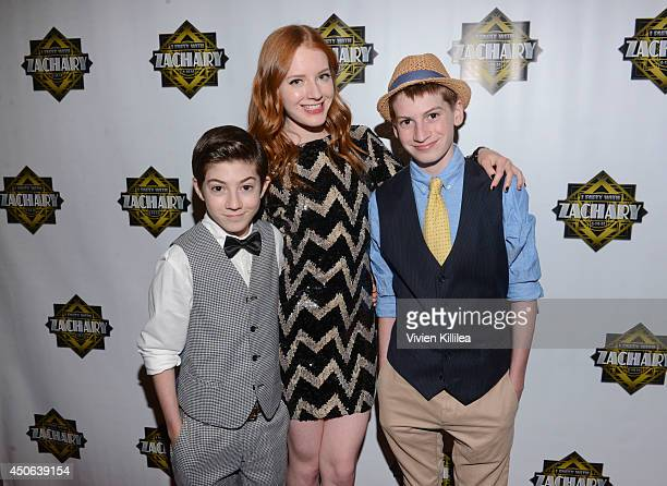 Mason Lilly and Lane Cook attend 'I Party With Zachary' Zachary Gordon's 16th Birthday Bash at Petersen Automotive Museum on June 14 2014 in Los...