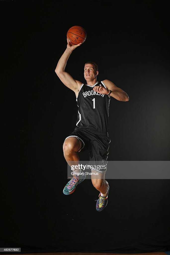 Mason Plumlee #1 of the Brooklyn Nets poses for a portrait during the 2013 NBA rookie photo shoot on August 6, 2013 at the Madison Square Garden Training Facility in Tarrytown, New York.