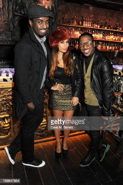 Mason Smillie Preeya Kalidas and Official Royston attend Official Royston's birthday party at Shaka Zulu on January 21 2013 in London England