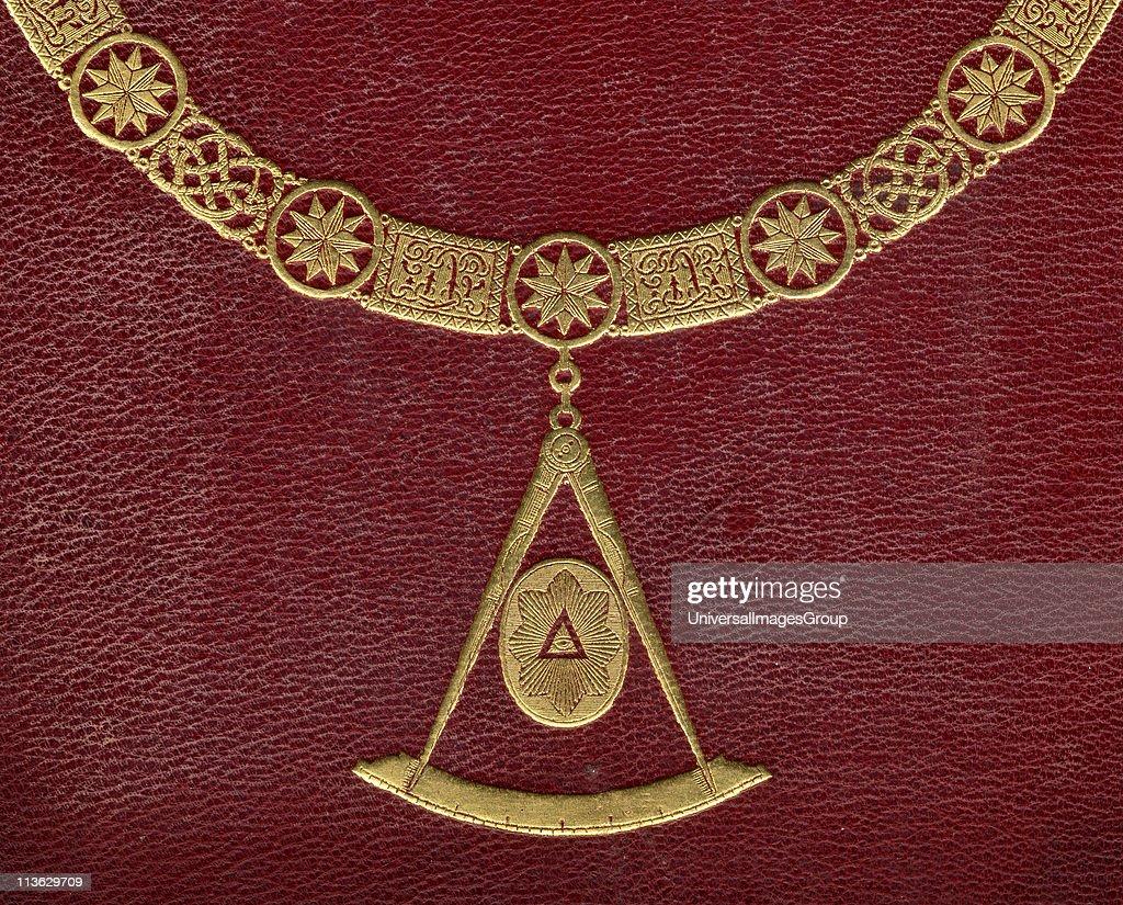 Masonic symbols from cover of The History of Freemasonry published by Thomas C Jack London 1883