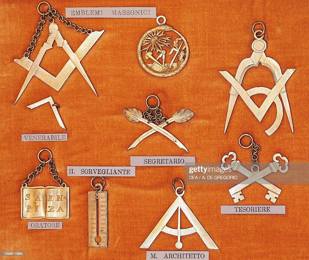 Masonic symbols Italy 19th century
