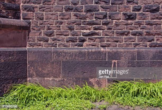 Masonry wall at an old historic church