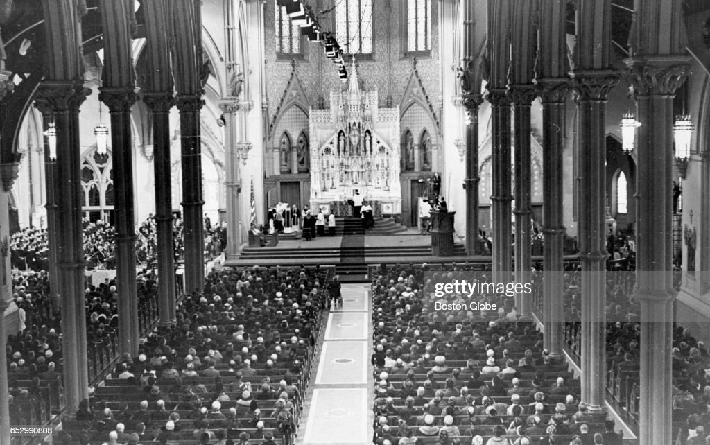 Mass at Holy Cross Cathedral in Boston on Jan. 19, 1964, for a mass for John F. Kennedy. Kennedy was killed on Nov. 22, 1963.