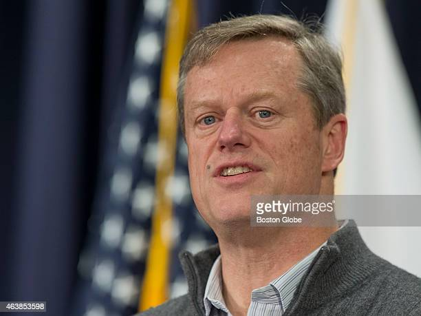 Mass Governor Charlie Baker informing the press that all non emergency State employees are urged to stay home and residents should stay off the roads...
